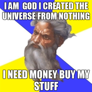 God doesn't need your money